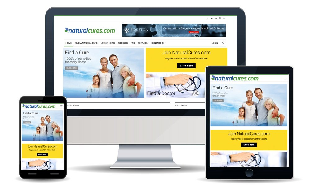 Natural Cures Web Design